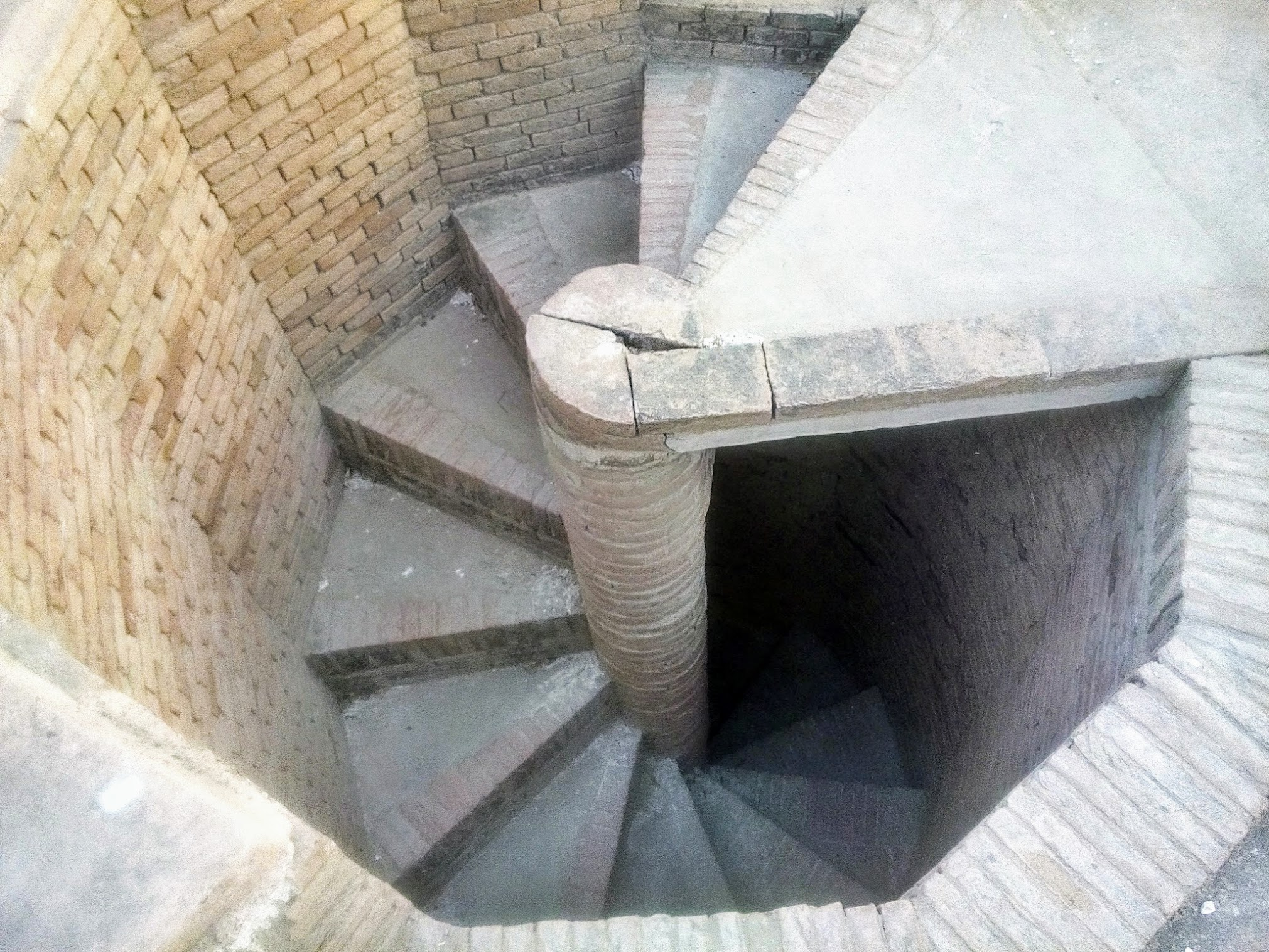 Stairs leading to rooftop