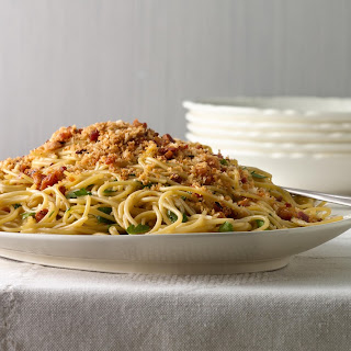 Spicy Spaghetti with Pancetta and Toasted Breadcrumbs Recipe