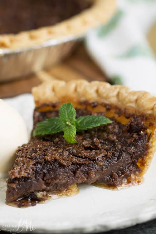 "Chocolate Chess Pie""Chocolate Chess Pie is a rich, fudgy Southern dessert recipe..."