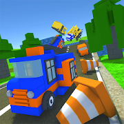 Blocky Stunt Car Racing Simulator