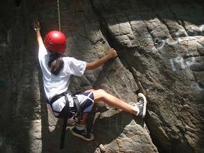 Photo: Rock climbing at Currahee Mountain