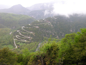 Photo: The road to Papinga, Zagoria