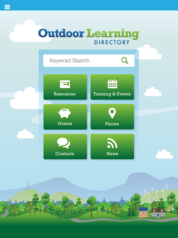 Outdoor Learning Directory- screenshot