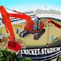 Cricket Stadium Builder Construction Crane Game 3D icon