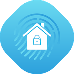 Home Security Monitor System: Surveillance Camera Icon