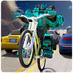 Robot Bicycle Traffic Rider Icon