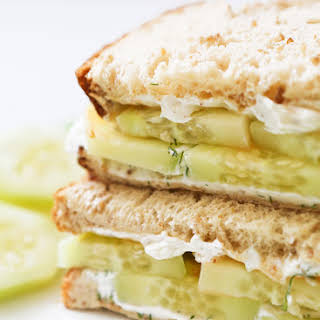 Cucumber Cream Cheese Sandwiches.
