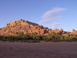 Photo: Approaching the ksar, over the riverbed. Apparently the river floods several times a year.