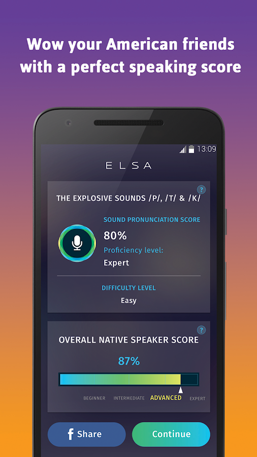 ELSA Speak: Reduce your accent- screenshot