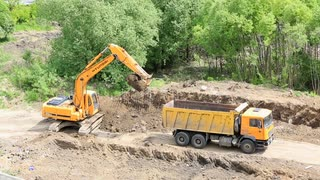 Groundworks With Excavator Digger