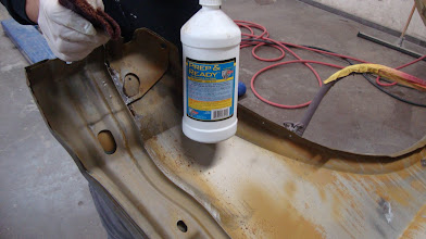 Photo: Metal ready Metal wash is sanded into the surface after a thorough cleaning removing all debris and Soda residue.