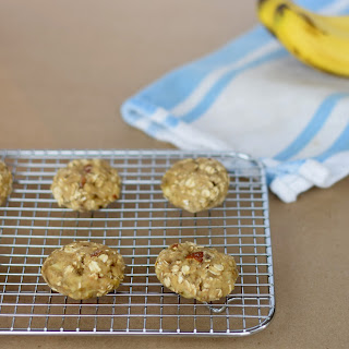 Four Ingredient Healthy Banana Bread Cookies.