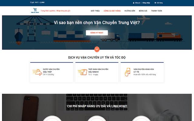 Tiện ích đặt hàng Vận Chuyển Trung Việt