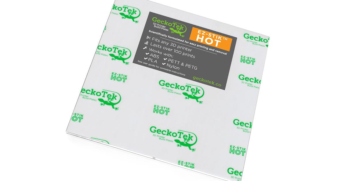 EZ-Stik Hot Professional 3D Printer Build Surface from GeckoTek 160x160mm