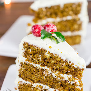 Gingerbread Cake with Vanilla Bean Frosting.