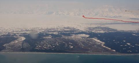 Photo: Malaspina Glacier from plane to Yautat