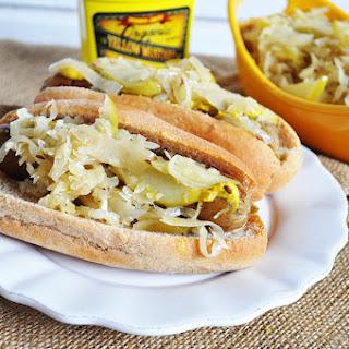 Vegan Apple + Sauerkraut Dogs