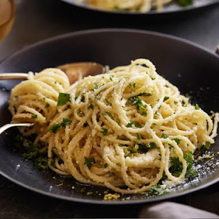 Spaghetti with Lemon Sauce.