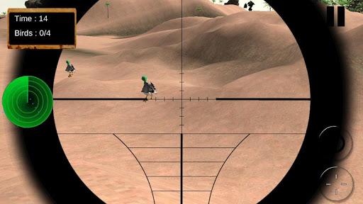鳥獵人在沙漠