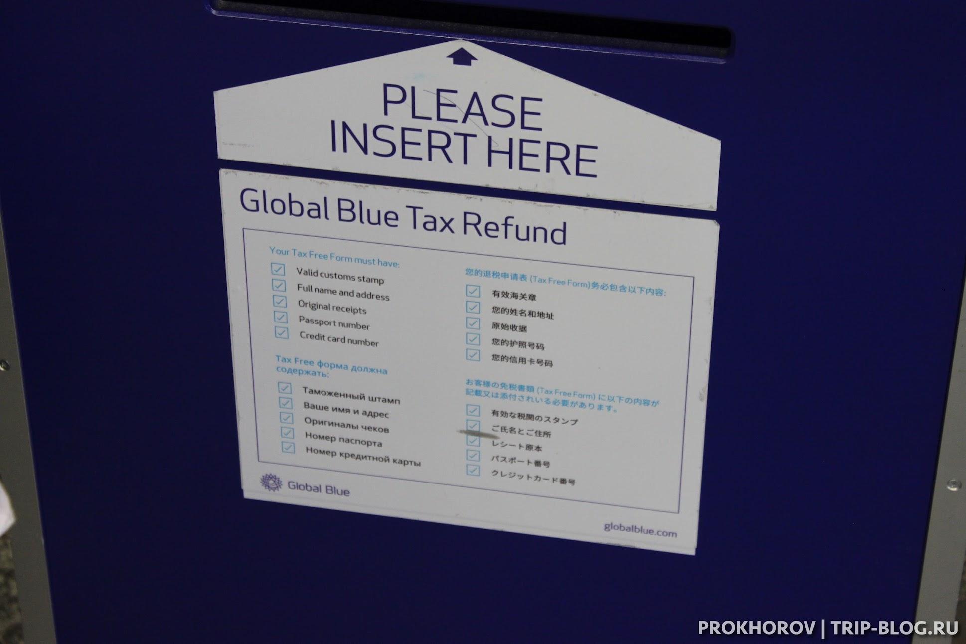 почтовчый ящик Global Blue - список документов