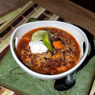 Beef, Black Bean and Sweet Potato Chili