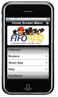 FIFO App Work Roster- screenshot thumbnail