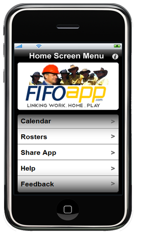 FIFO App Work Roster- screenshot
