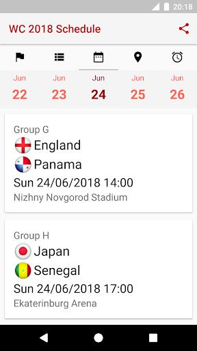 ud83cudfc6World Cup 2018 Schedule 2018.1.17 screenshots 5