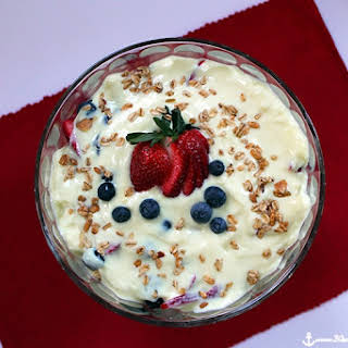Yogurt, Berry and Granola Breakfast Trifle.