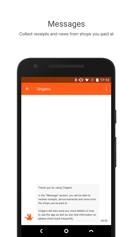 Origami - Mobile Payment- screenshot