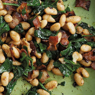 Cannellini Beans with Pancetta & Spinach