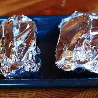 Foil-Wrapped Pears with Caramel Sauce.