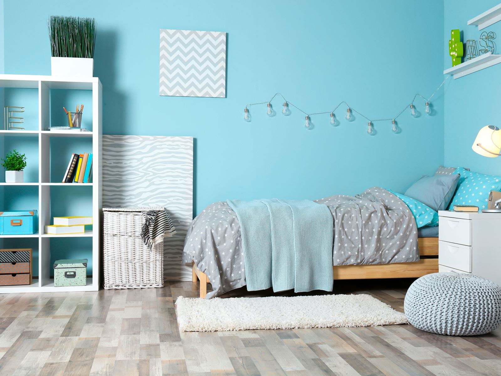 Màu xanh dương luôn đem đến sự yên bình và thư giãn