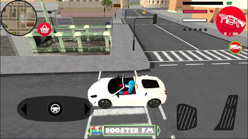 Spider Capitaine american Stickman Rope Hero Crime screenshot 3