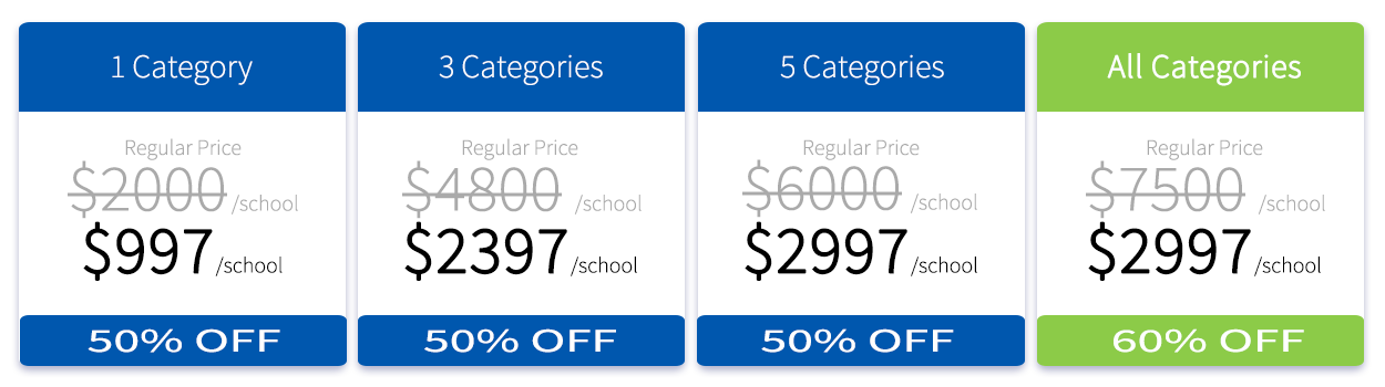 School Pricing Table