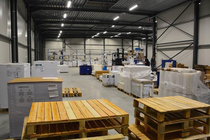 Bouwwerken nieuwe loods drukkerij