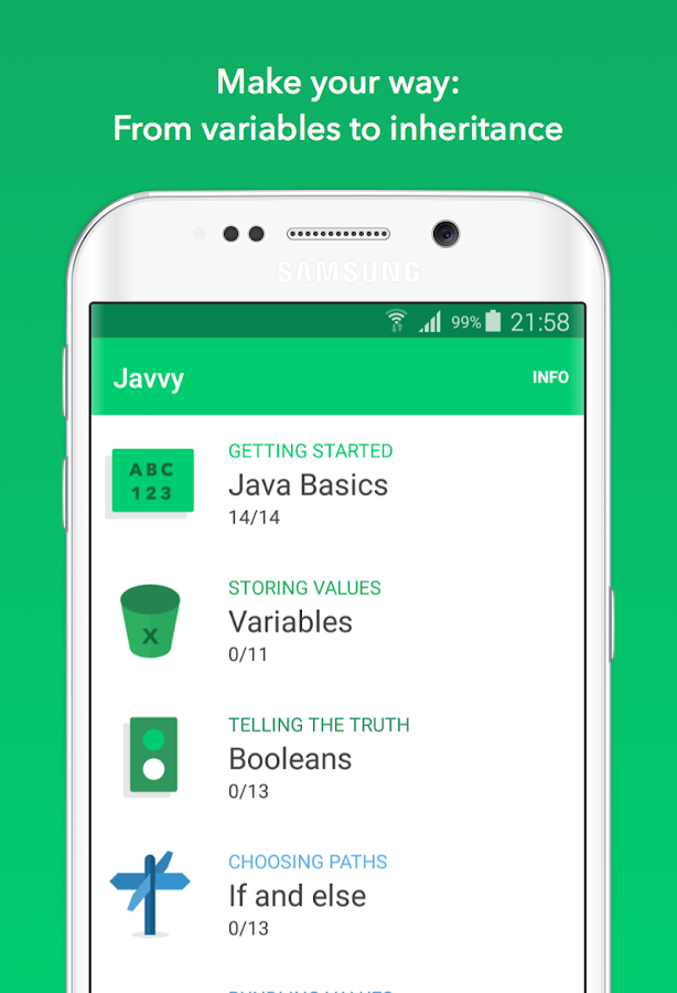Javvy - Learn to code in Java!: captura de pantalla