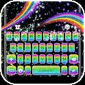 Rainbow Glitter Keyboard Theme icon