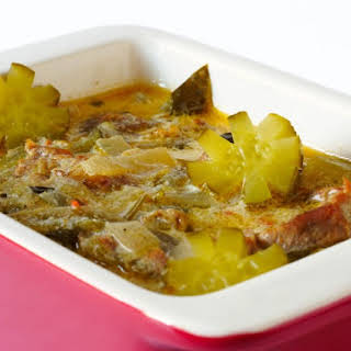 Beef Goulash With Gherkins.