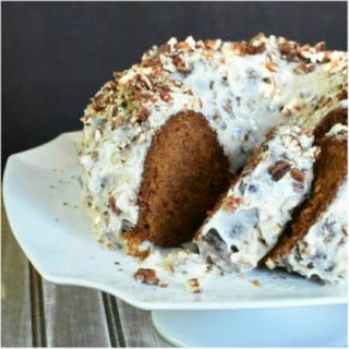 Pumpkin Spice Cake with Toasted Pecan Cream Cheese Frosting
