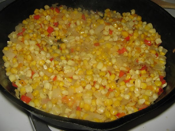 Add the cream and stir  to combine. Cook and stir 5 more minutes..Enjoy..