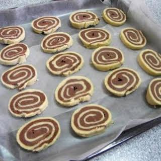 Black and White Pinwheel Cookies.