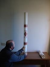 Photo: Il cero dei fratelli (1m x 10cm)