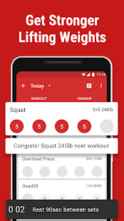 App Stronglifts 5x5 - Weight Lifting & Gym Workout Log APK for Windows Phone