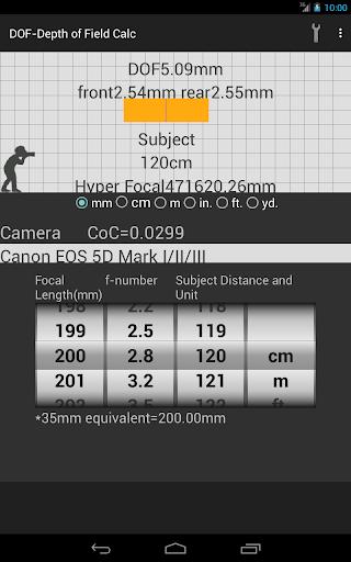 玩攝影App|景深計算器免費|APP試玩