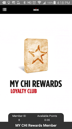 MY CHI Rewards Loyalty Club