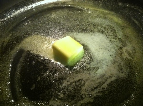 In a large skillet, add your butter and extra virgin olive oil, heat till...