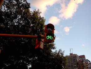 Photo: コルドバ 大通りに自転車専用レーンがあり専用の信号も。整ってるな~。
