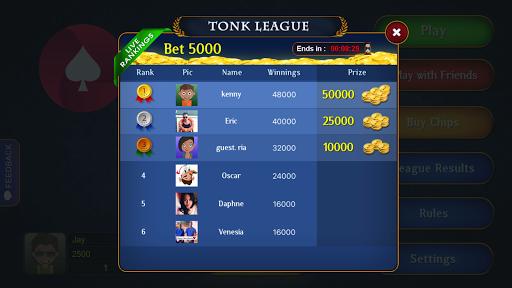 Tonk League - Online Multiplayer Card Game apktram screenshots 3