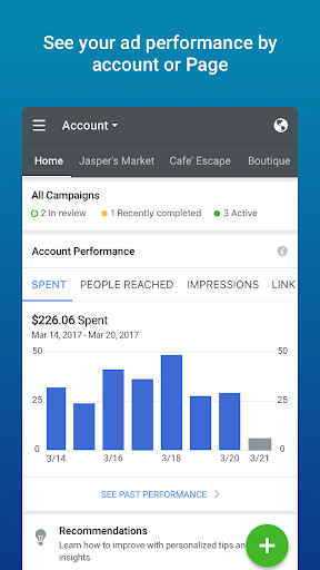 Facebook Ads Manager screenshot 1